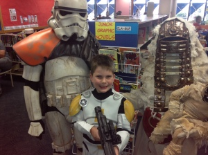 James with the Sandstorm Trooper.