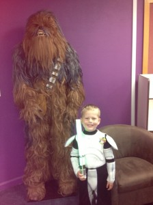 Tom with Chewbaccca!