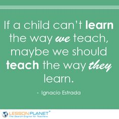 teach the way they learn