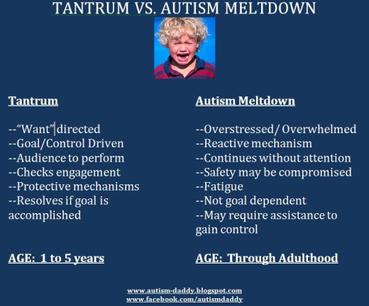 tantrum versus meltdown